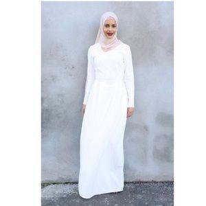 White Abaya Dress
